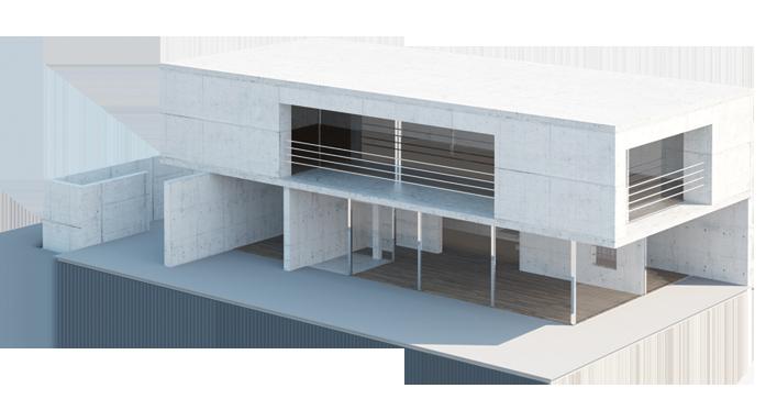 Architekturmodell Polymergipsdruck