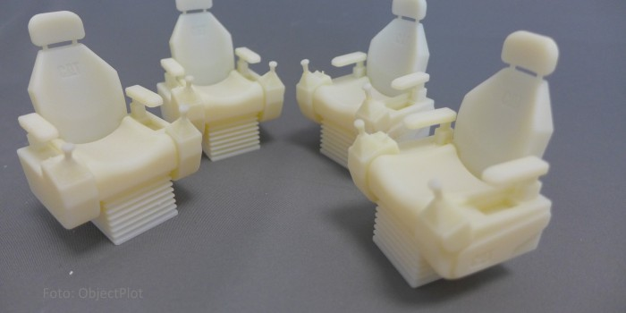 Sitz-Prototypen für Baufahrzeuge